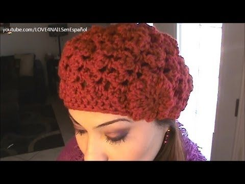 How To Crochet a Red Flower Hat Step By Step Tutorial - YouTube