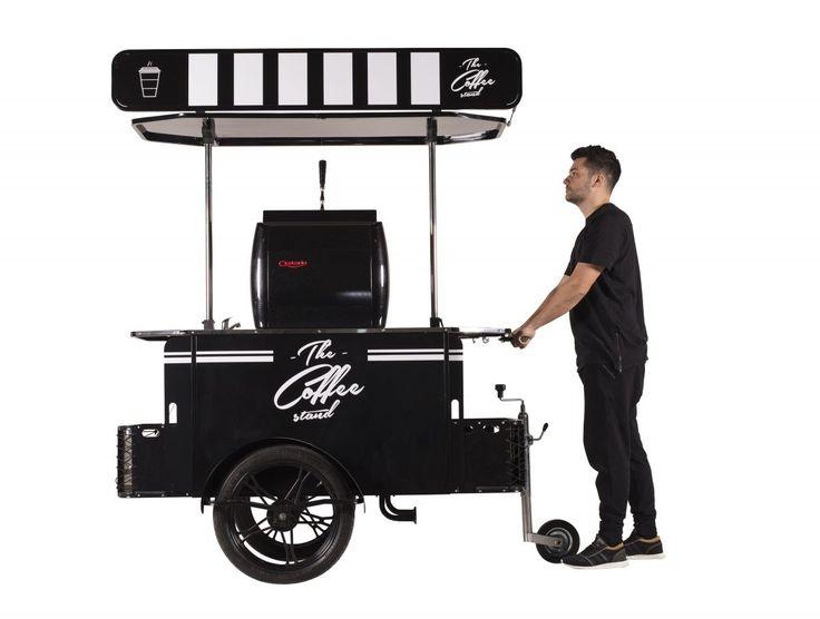 The Coffee Cart can be hauled as a push cart, too!    #CoffeeCart #VendingCart