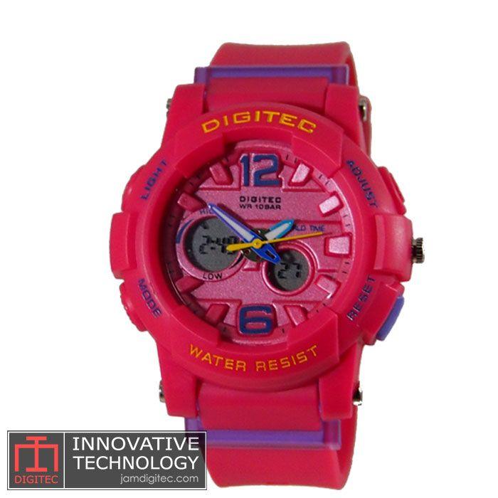 jam tangan digitec wanita DG -2073T pink