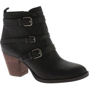 Women's Nine West Fitz Ankle Bootie - Black Leather Casual