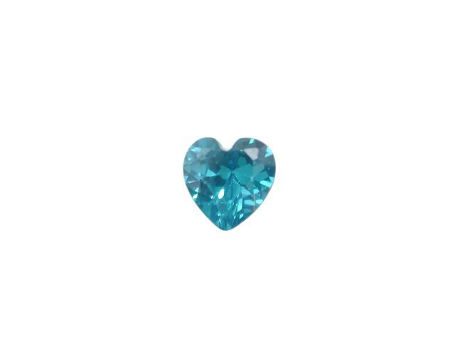 5mm Heart Blue Topaz Cubic Zirconia *butterfly Memories* Charm