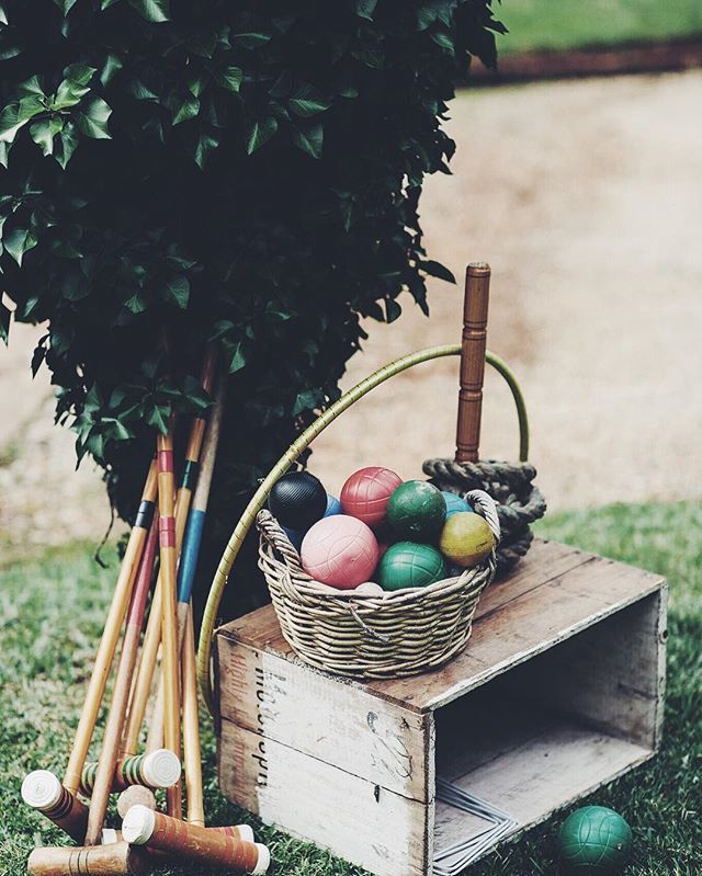 The best way for your wedding guests to entertain themselves! #wedding #weddingday #weddinginspiration #vintage #games #weddinggames #croquet #entertaining #bride #groom #weddingreception #vintagewedding #love #celebration #happilyeverafter #oldschool #dapper #gentleman #style #ontrend