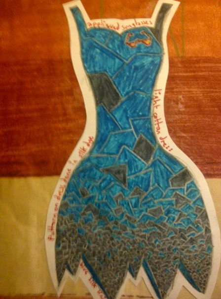 Project: Brighton A dress design inspired by mosaics in the Brighton Laines
