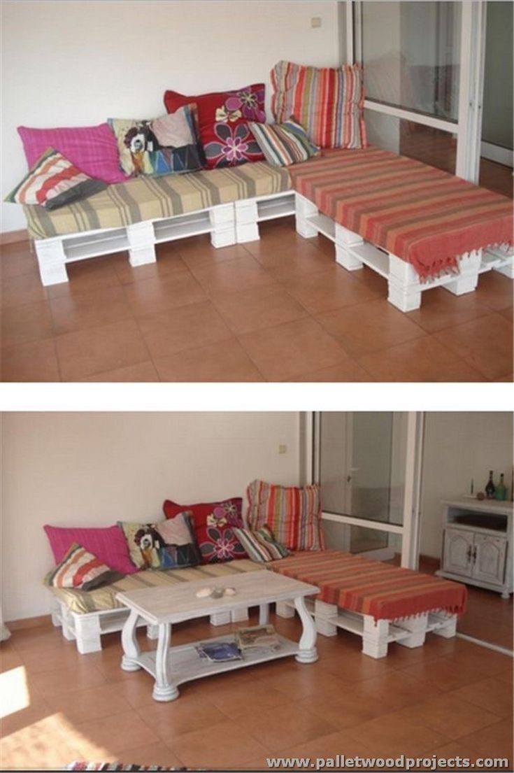 Diy pallet sectional sofa table ideas pallet - Ideas To Recycle Pallets Wood