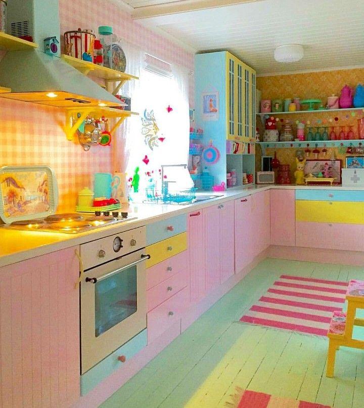 Mejores 158 imágenes de Cocinas Rosas en Pinterest | Cocinas ...
