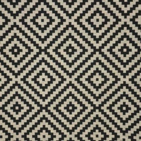 Tissu Vannerie losange noir x 10cm