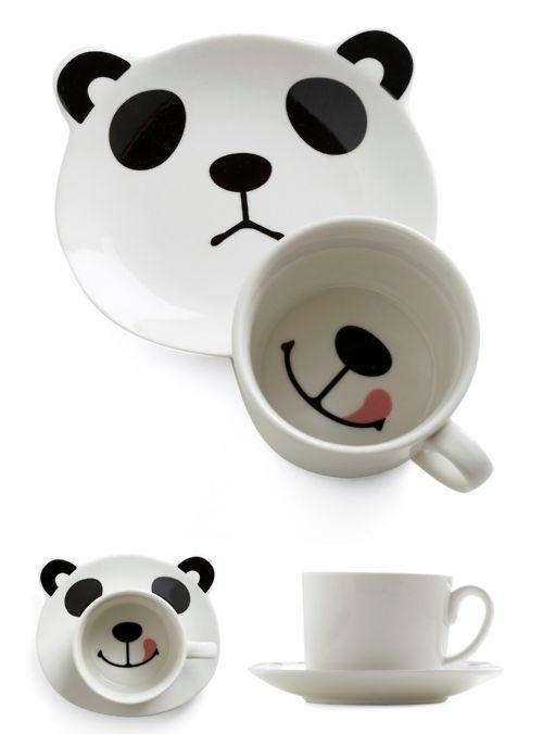 panda smile mug set from ModCloth