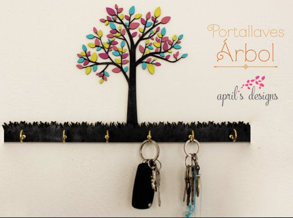 keys hanger Portallaves hanger keys colgador de por April diseño y decor