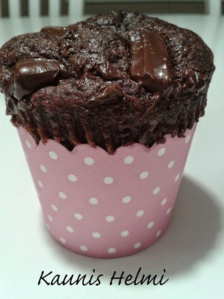 Kaunis Helmi: Gluteenittomat suklaahömpsymuffinssit