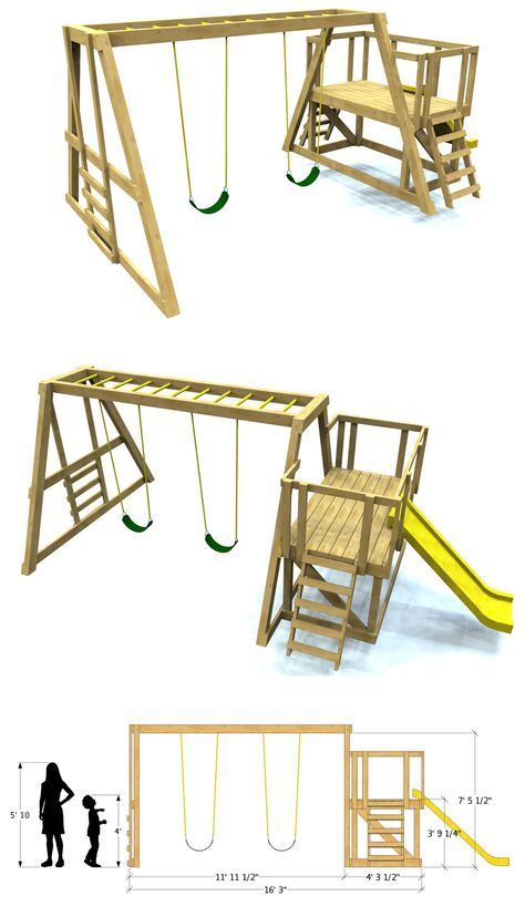 Best 25 kids swing sets ideas on pinterest kids swing for How to build a metal swing set frame