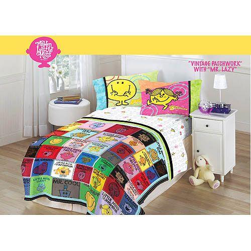 Mr Men Little Miss Vintage Patchwork Lazy Comforter Twin