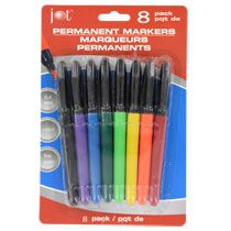 Jot Permanent Fine-Point Markers, 8-ct. Packs