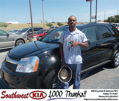 Happy Anniversary to Bobby Crawford on your 2008 Chevrolet Truck Equinox from Stanley Bowie and everyone at Southwest Kia Dallas!