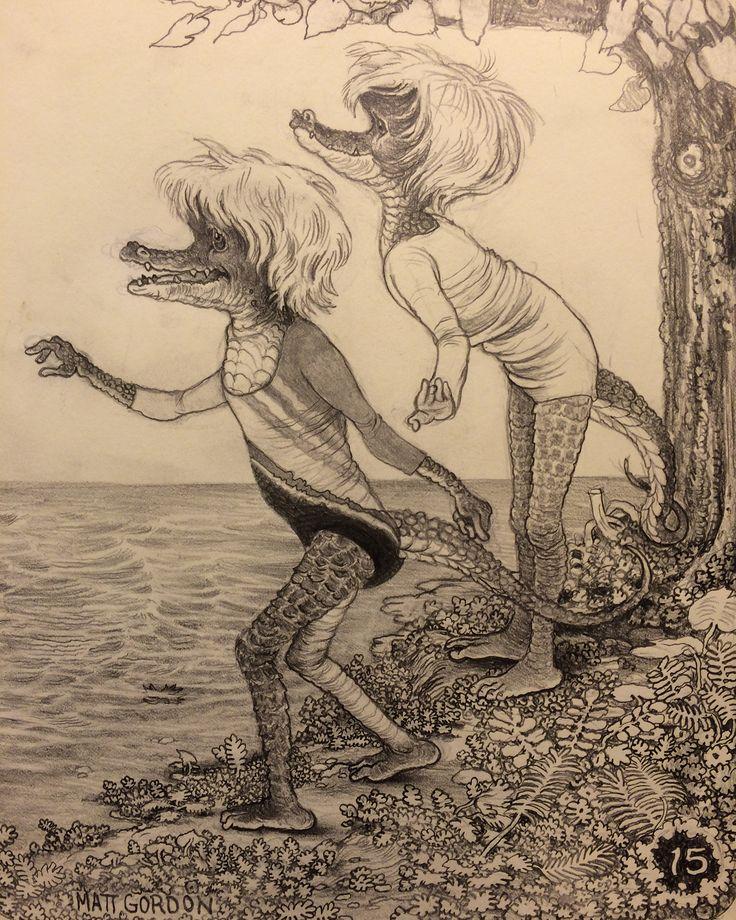 Shore gals~ graphite in moleskine Matt Gordon 2015   via Matt Gordon - https://www.pinterest.com/pin/238620480235094519/