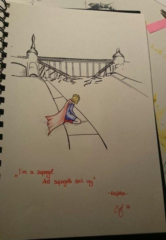 **Supergirl** Skizze --- by Alexandra Blon/Squeechy Beckenheim