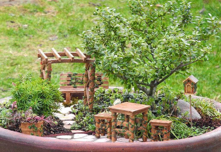 Yeni bir hobi, minyatür bahçe.