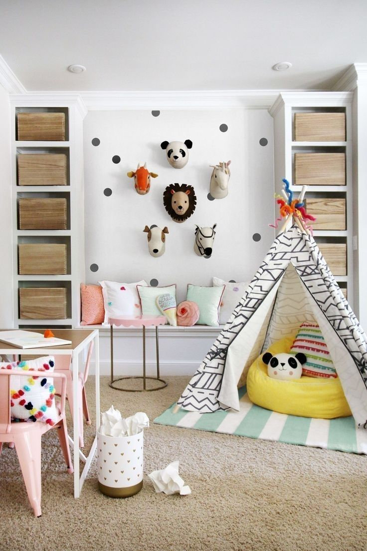 Built In Storage Bench Hunted Interior: Playroom Makeover