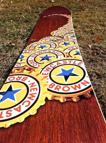 Newcastle Brown Ale Beer Logo Real Head Snowboard Limited Edition New RARE | eBay