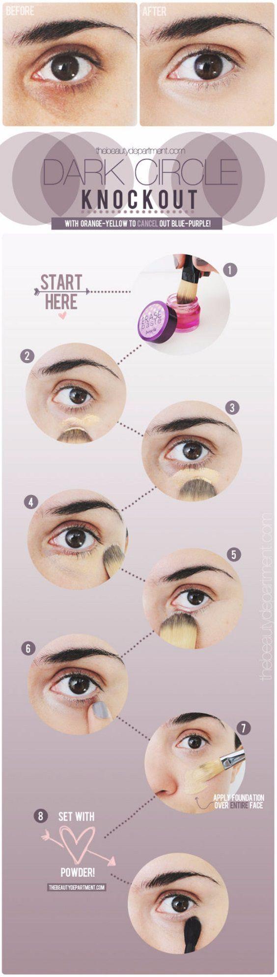 darkcircleknockout Diy beauty hacks Eye makeup Natural