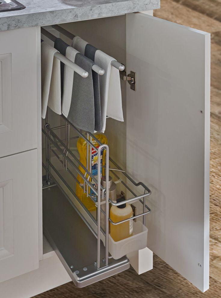 Küchen Unterschrank als Staufach für Putzmittel  Unterschrank