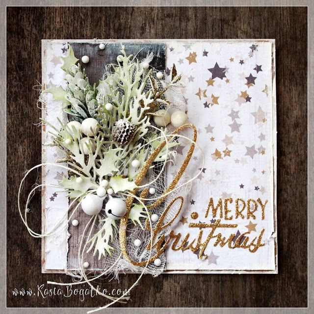 Christmas with Sizzix - card by Kasia Bogatko