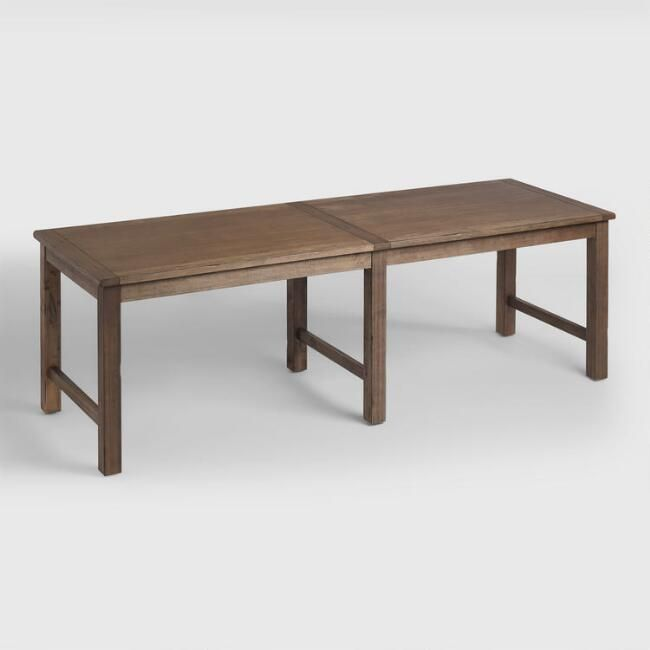 Distressed Brown Wood Gulianna Extra Long Dining Table - v1