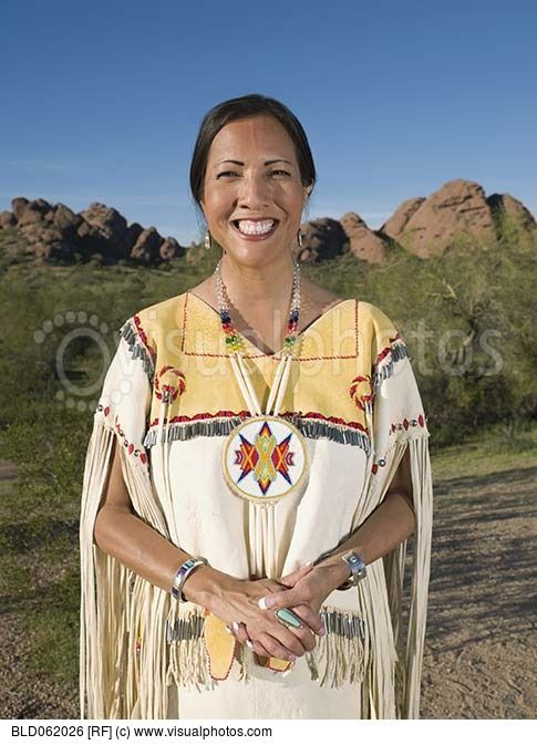 native american woman in traditional clothing native