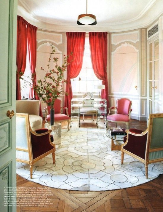 Love the color scheme - mint + red + pink (like the nursery) - robert couturier french femme