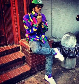 Trinidad James Rocking Air Jordan Grape V Sneakers