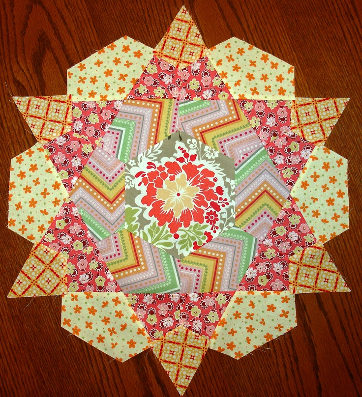 Another Rose Star Block