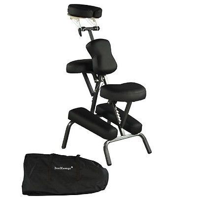 Black-New-BestMassage-4-Portable-Massage-Chair-Tattoo-Spa-Free-Carry-Case-8B