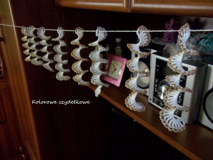 Kolorowe szydełkowe: Kręciołki - sopelki i spółka