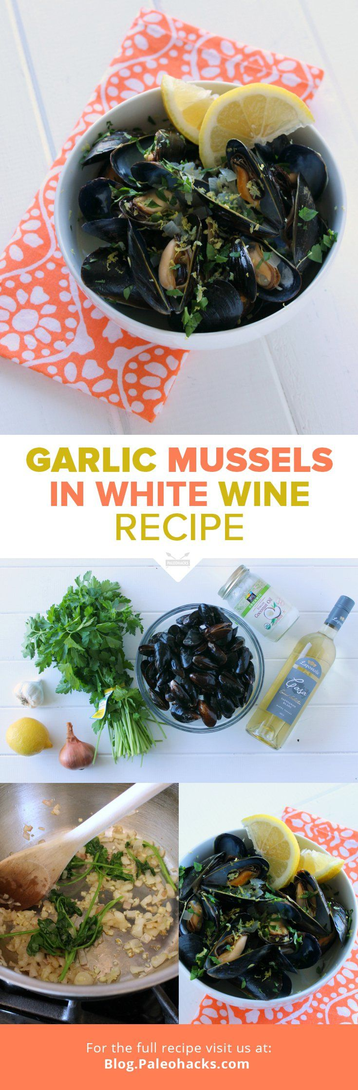 Garlic Mussels in White Wine Recipe   #justeatrealfood #paleohacks