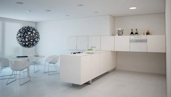 Images About A Super Minimalist Modern Apartment In White On Pinterest