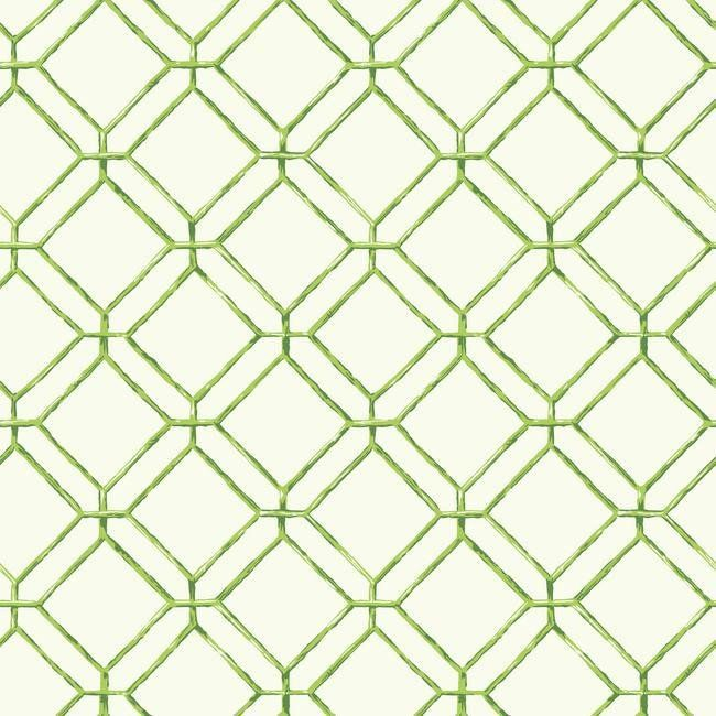 Diamond Bamboo Wallpaper In Green Design By York