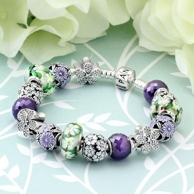 PANDORA Spring's in Bloom Charm Bracelet