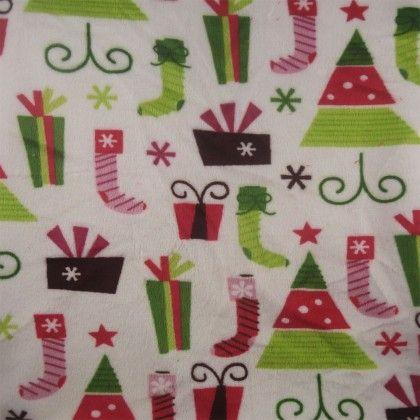 Retro Christmas Minky