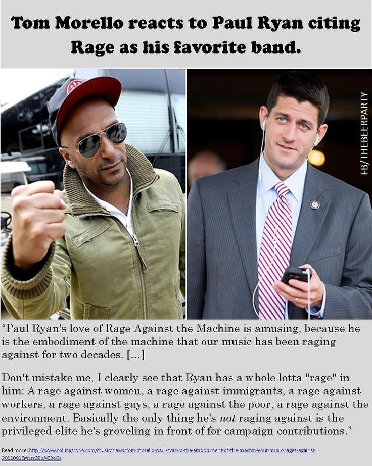 Tom Morello on Paul Ryan and Rage Against the Machine - reproductive rights, LGBT rights