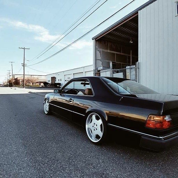 Mercedes Benz W124 C124 Coupe Stance Amg Lowered Black