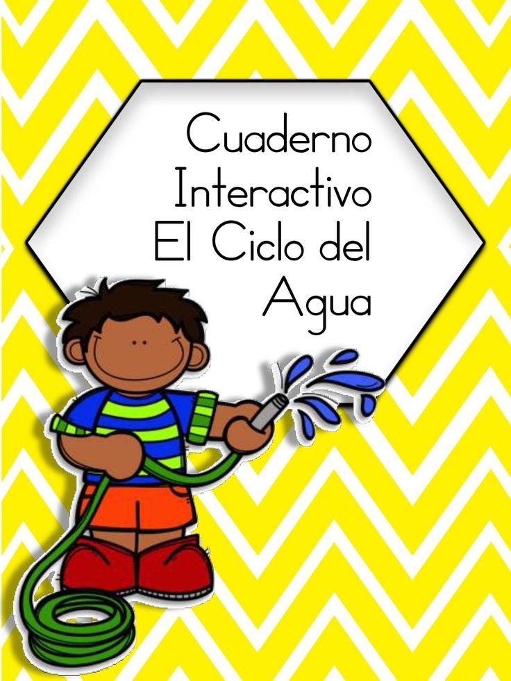 Cuaderno Interactivo Ciclo del Agua #primary #2grade #imageneseducativas