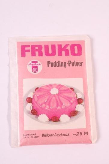 """DDR Museum - Museum: Objektdatenbank - Pudding-Pulver """"FRUKO""""    Copyright: DDR Museum, Berlin. Eine kommerzielle Nutzung des Bildes ist nicht erlaubt, but feel free to repin it!"""