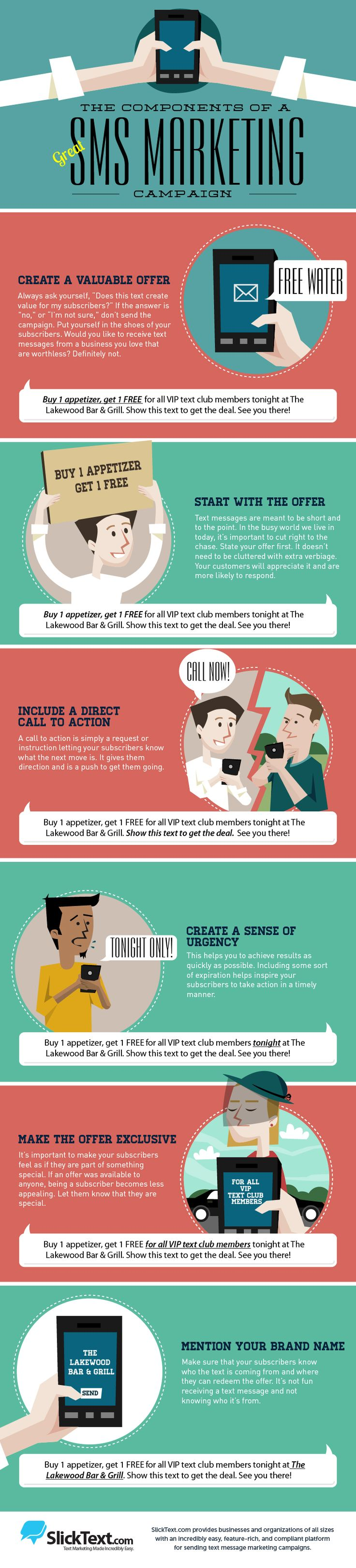 How to Build a Great SMS Marketing Campaign (Infographic)