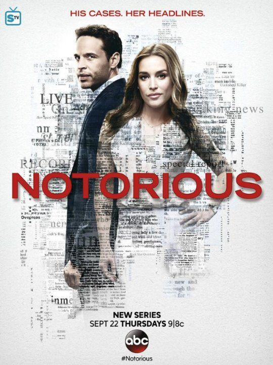 "Notorious (TV Series - September 22, 2016– ) - The media and criminal law have a complicated relationship... a salacious crime is a powerful tool to drive up news viewership numbers, while reports portrayed can sway public perception. Producer Julia George and criminal defense attorney Jake Gregorian,  have a relationship built on the ways they can benefit each other professionally. ""Notorious"" is an inspired true story of Mark Gegaros and Wendy Walker, who are executive producers. IMDb"