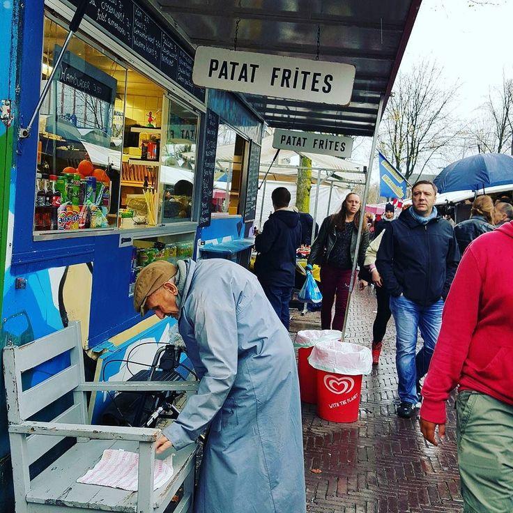 One rainy day in Amsterdam  #tbt #street # elderly #oldman #rain #lookback