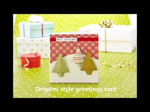 Learn how to make quick and easy origami Christmas trees.