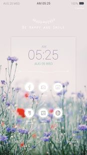 보랏빛 꽃 버즈런처 테마 (홈팩) - screenshot thumbnail