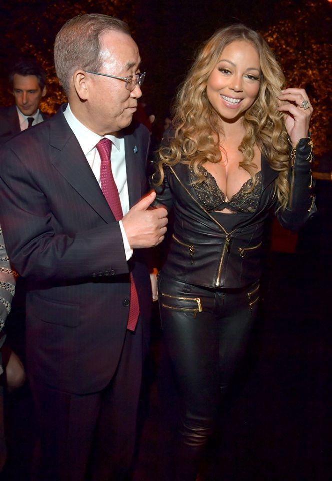 See what Mariah Carey Wore to Meet the Head of the United Nations