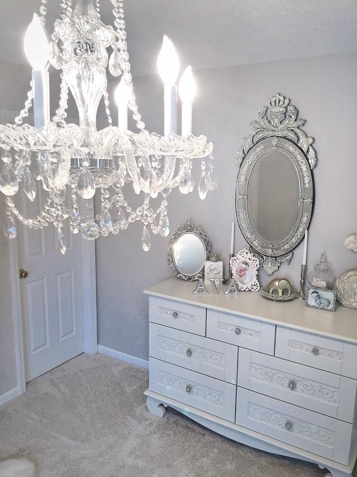This beautiful look is brought to you by Bratt Decor.  Get it all at brattdecor.com #dresser #nursery #white