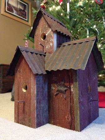 Tin roof bird house!