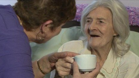 """The programme is called Namaste, in this case meaning """"to honour the spirit within"""". It has been developed for care home residents with severe dementia who can no longer speak up for themselves. They may be immobile, and prone to infections. They often have difficulty swallowing, and may suffer from pain."""